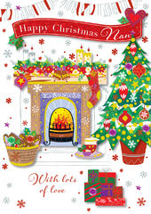 Nan Happy Christmas Greeting Card