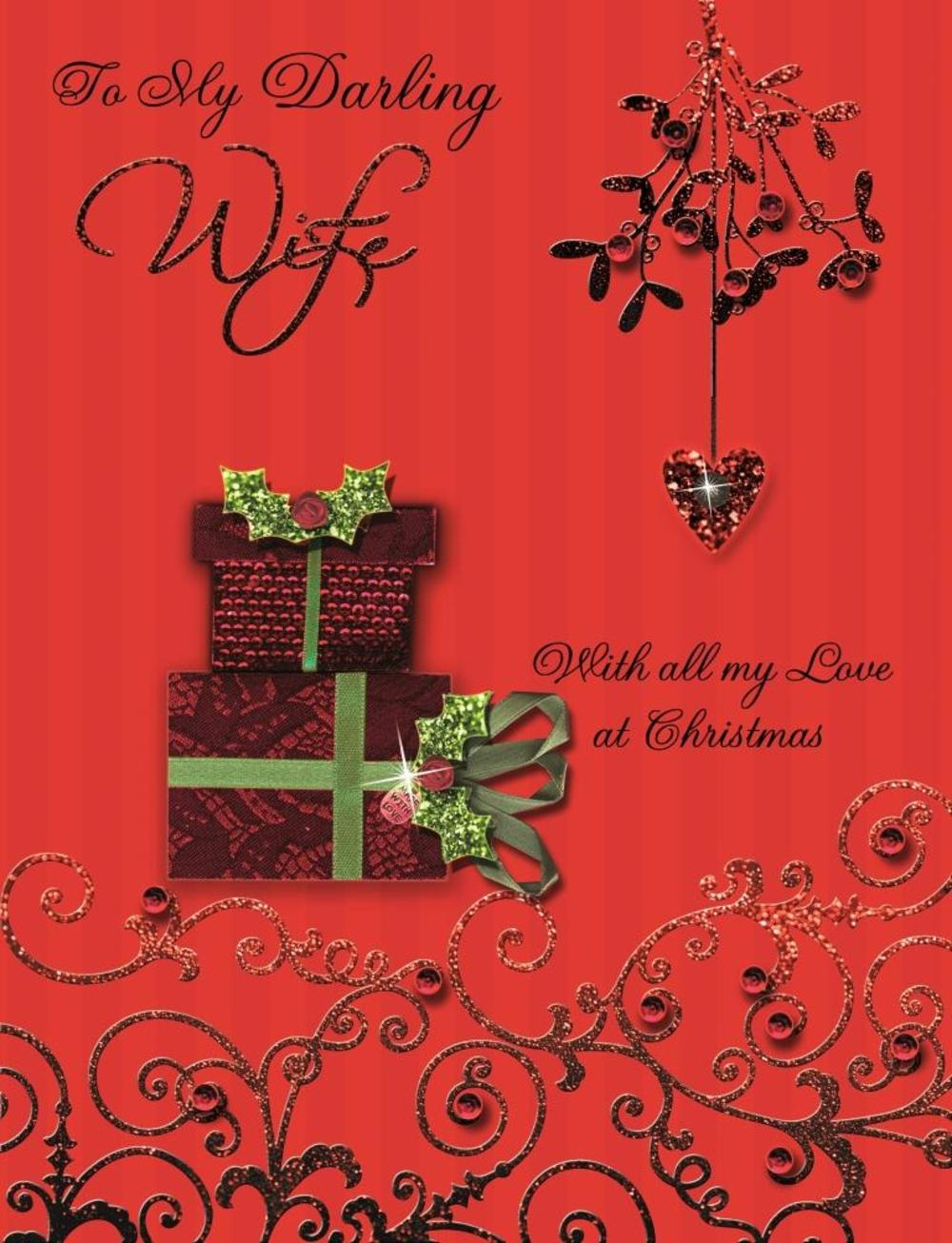 To my darling wife special large luxury handmade christmas card to my darling wife special large luxury handmade christmas card kristyandbryce Choice Image