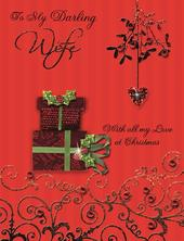 To My Darling Wife Special Large Luxury Handmade Christmas Card