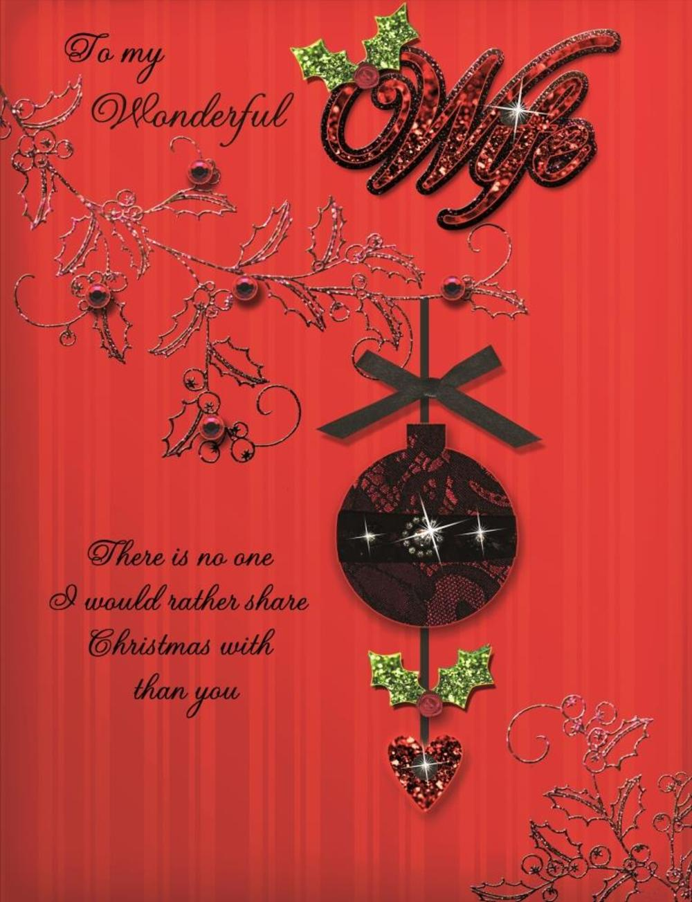 To My Wonderful Wife Special Large Luxury Handmade Christmas Card