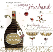 Boxed Amazing Husband Special Luxury Handmade Christmas Card
