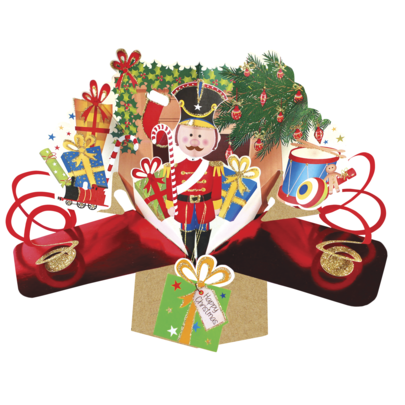 Christmas Nutcracker Pop-Up Greeting Card