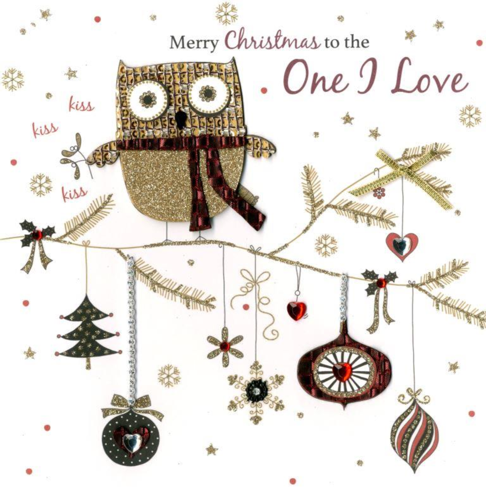 One I Love Special Luxury Handmade Christmas Card