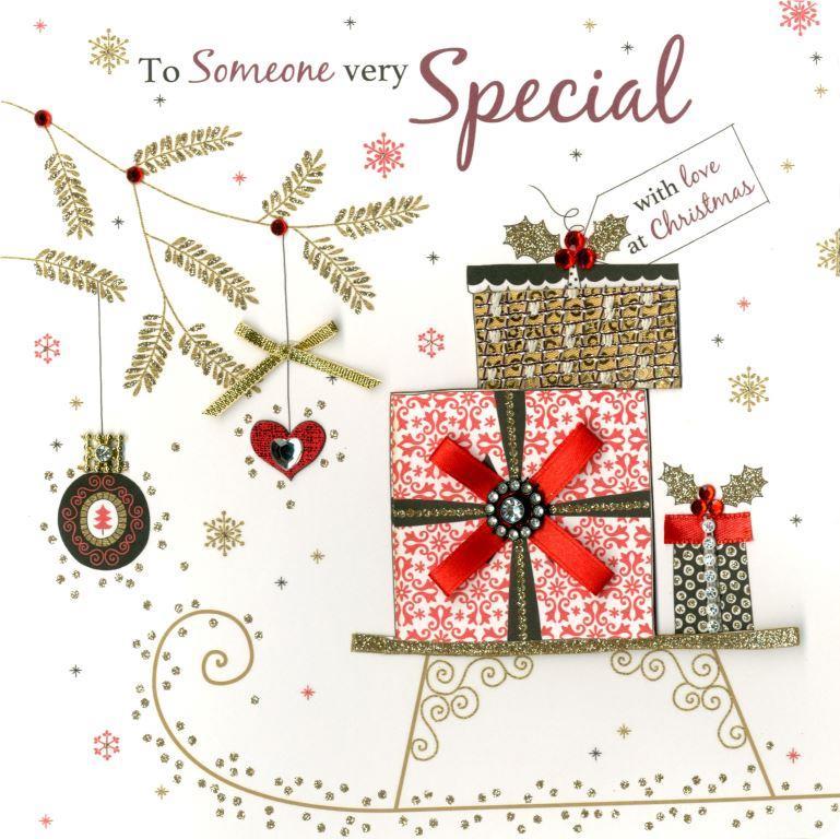 Someone very special luxury handmade christmas card cards love kates someone very special luxury handmade christmas card m4hsunfo