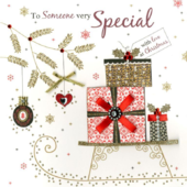 Someone Very Special Luxury Handmade Christmas Card