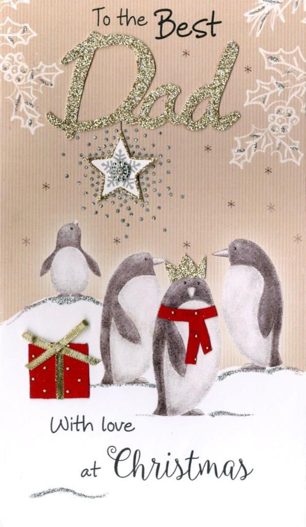 Best Dad Embellished Christmas Card