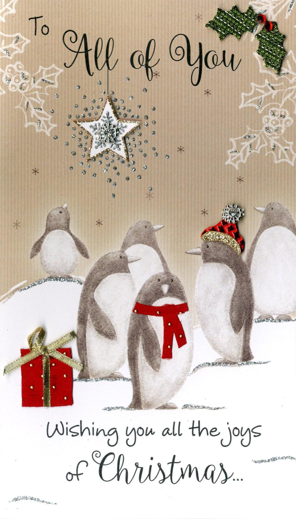 To All Of You Embellished Christmas Card