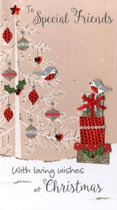 To Special Friends Embellished Christmas Card