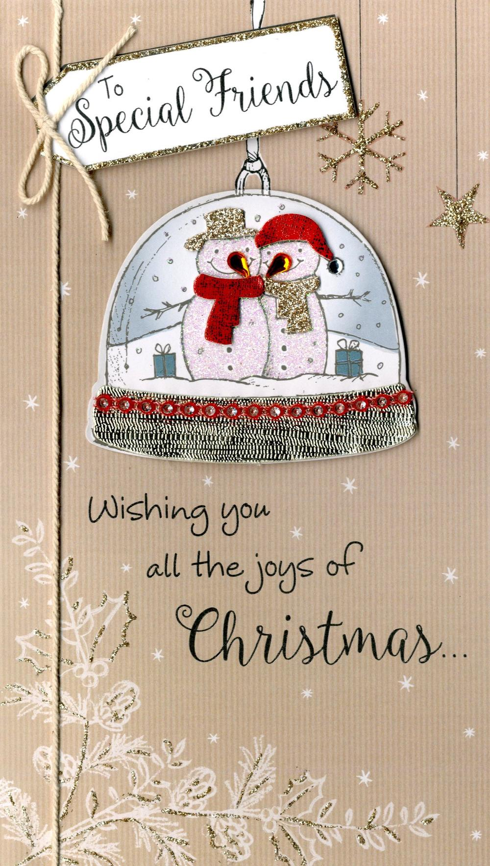 Special Friends Embellished Christmas Card