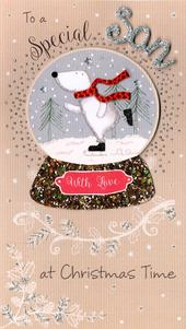 Special Son Embellished Christmas Card