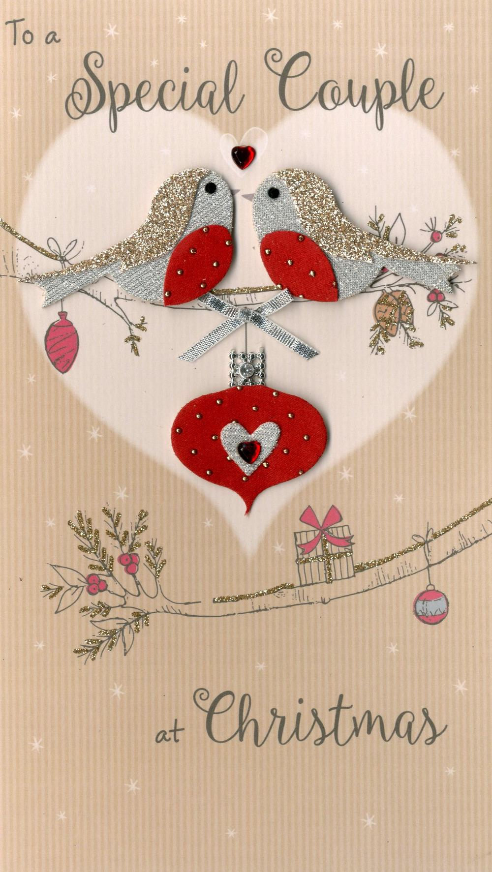 Special Couple Embellished Christmas Card