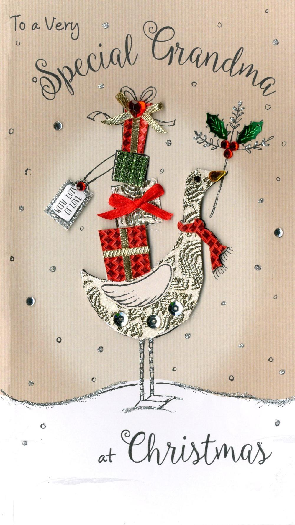 Special Grandma Embellished Christmas Card