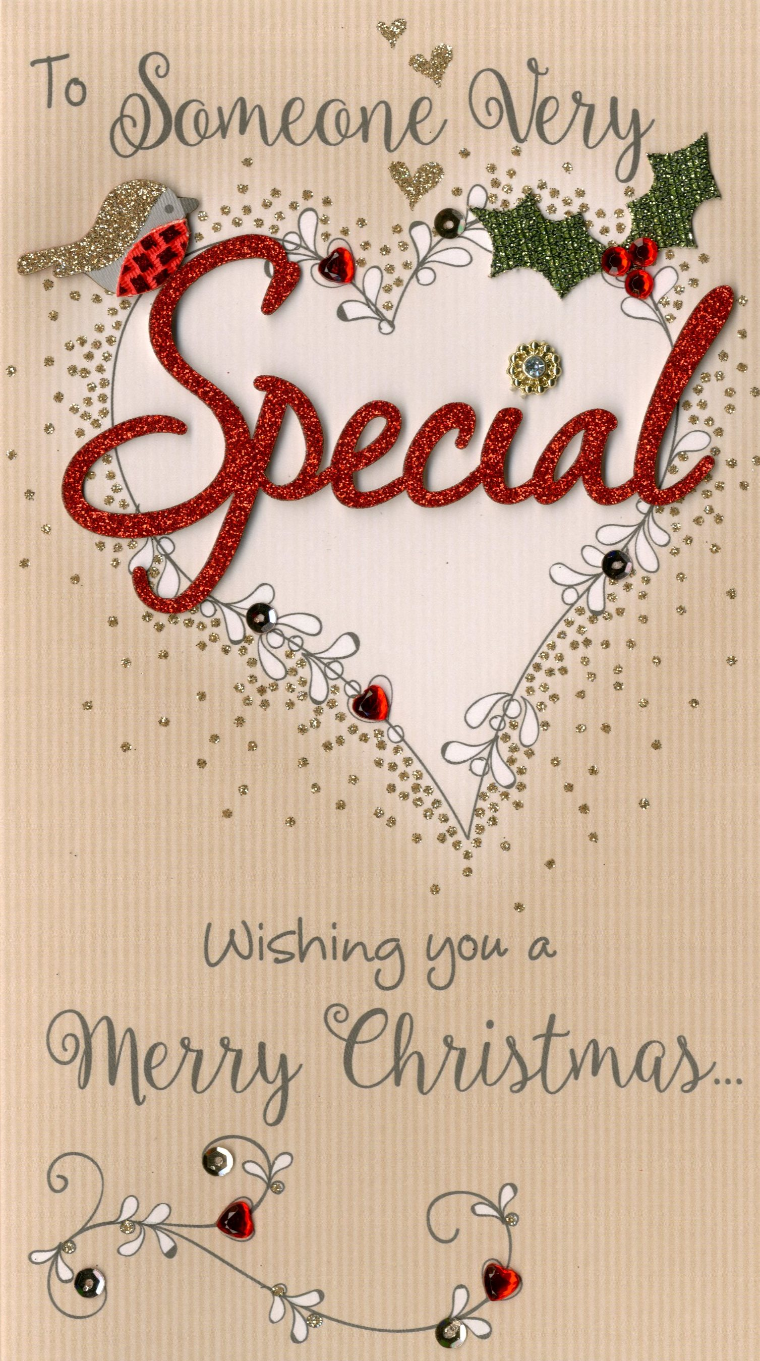 Someone special embellished christmas card cards love kates someone special embellished christmas card m4hsunfo