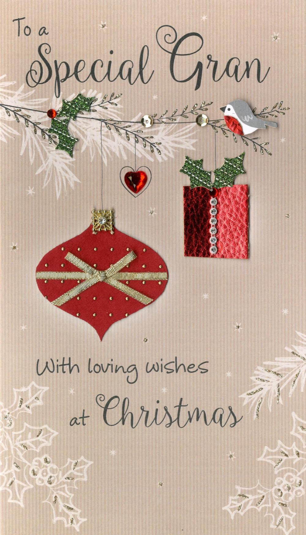 Special Gran Embellished Christmas Card