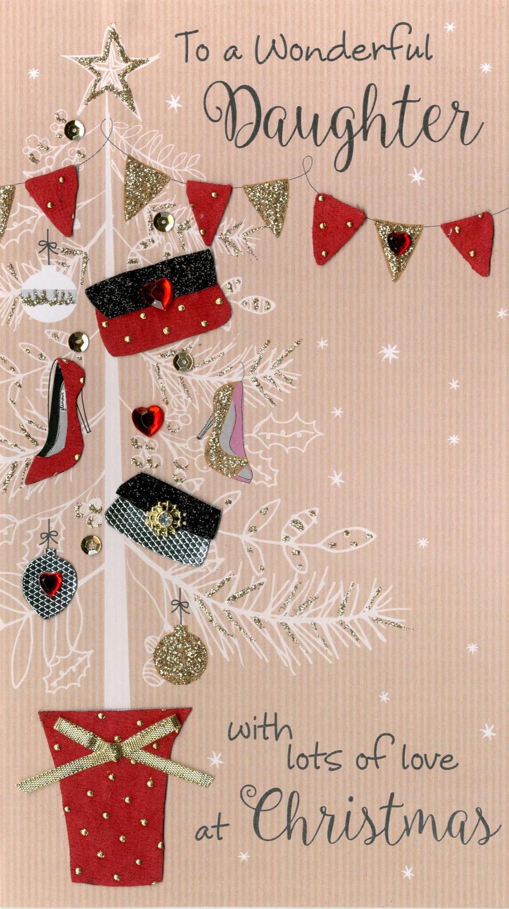 Daughter Embellished Christmas Card