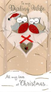 Darling Wife Embellished Christmas Card