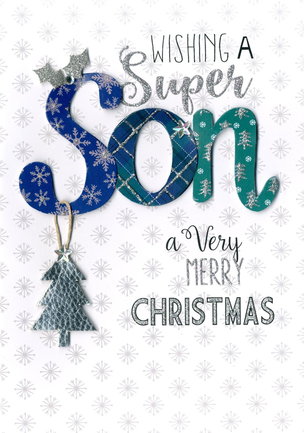Super Son Embellished Christmas Card