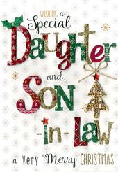 Daughter & Son-In-Law Embellished Christmas Card
