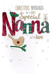 Special Nanna Embellished Christmas Card