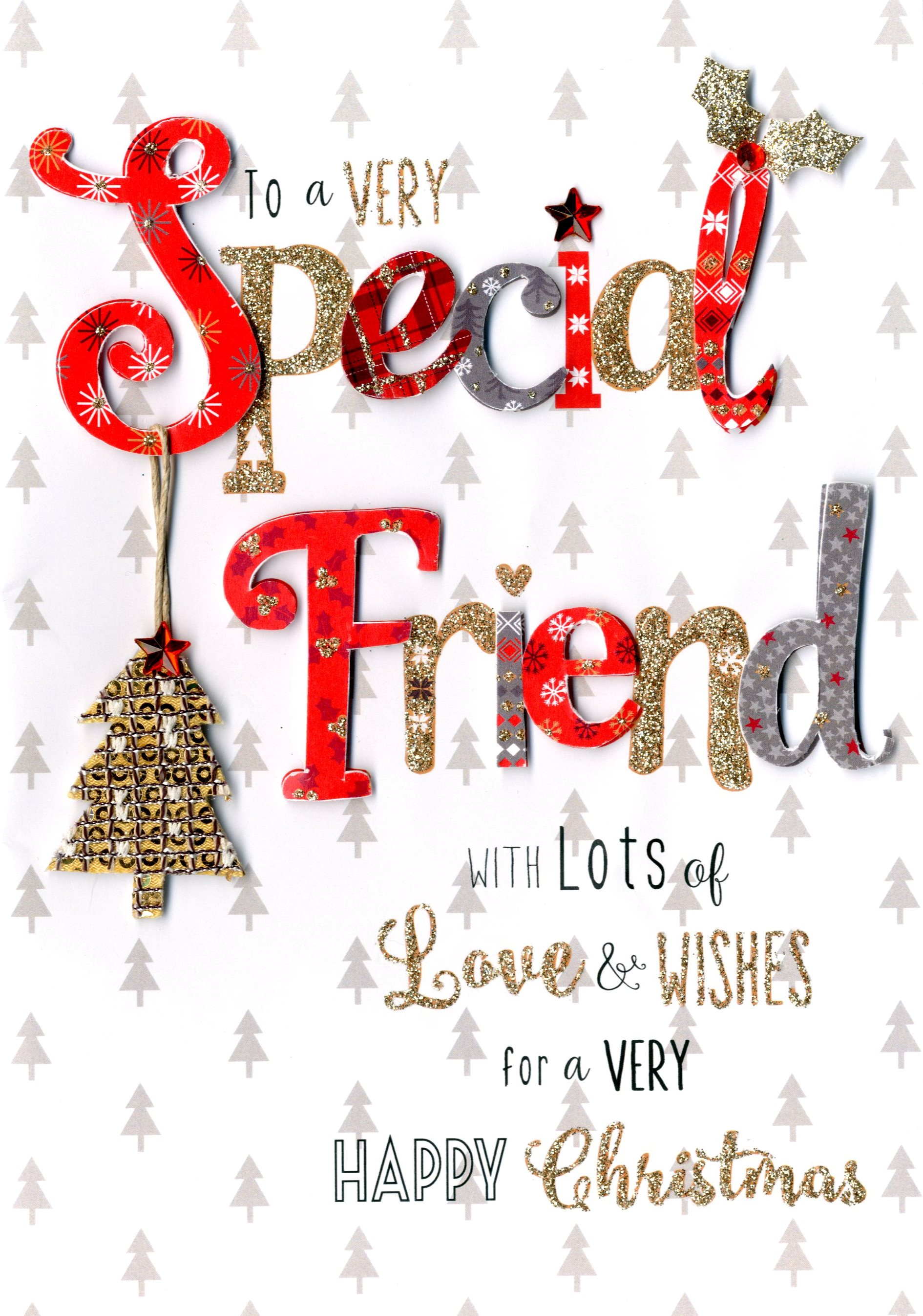 Very special friend embellished christmas card cards love kates very special friend embellished christmas card m4hsunfo