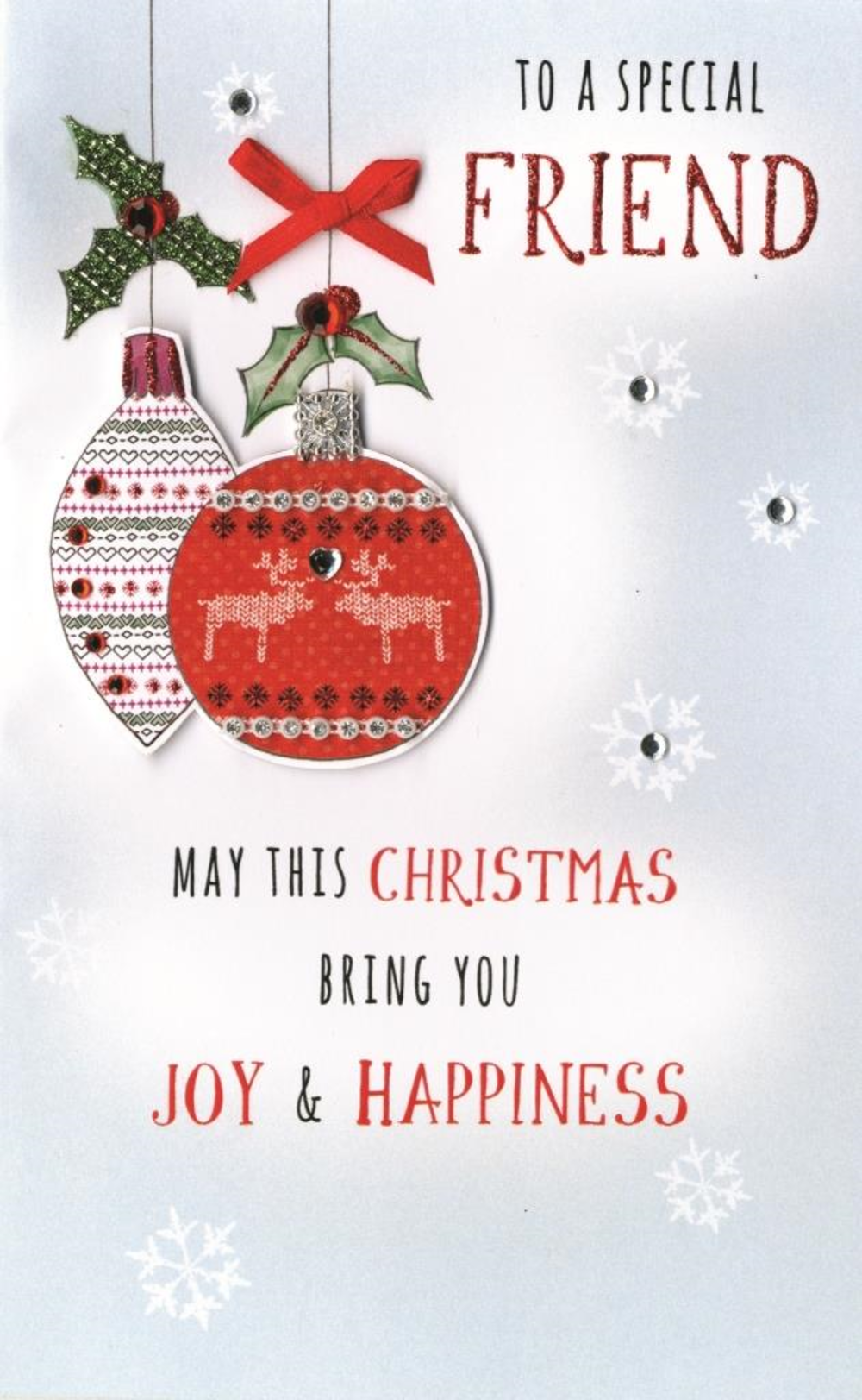 To A Special Friend Embellished Christmas Card