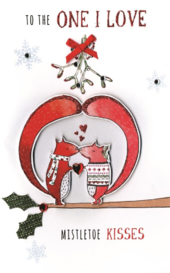 To The One I Love Embellished Christmas Card