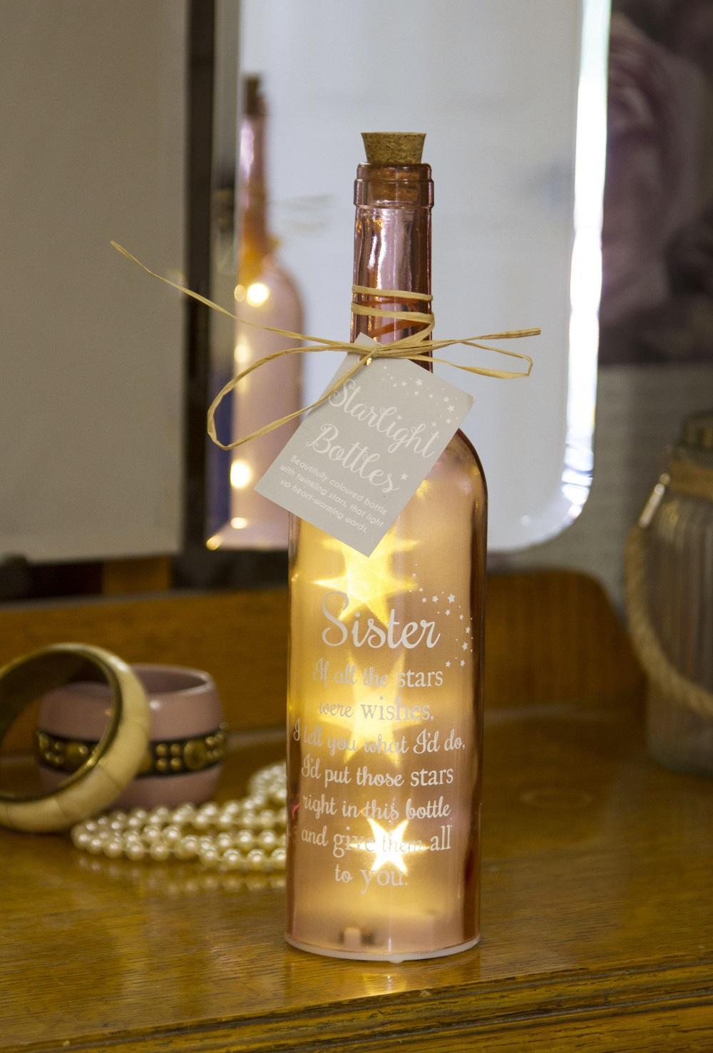 Sister Starlight Bottle Light Up Sentimental Message Bottles