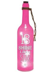 18th Birthday Starlight Bottle Light Up Sentimental Message Bottles