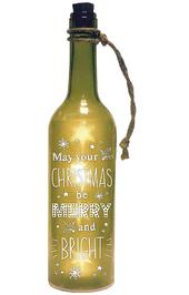 Merry Christmas Starlight Bottle Light Up Sentimental Message Bottles
