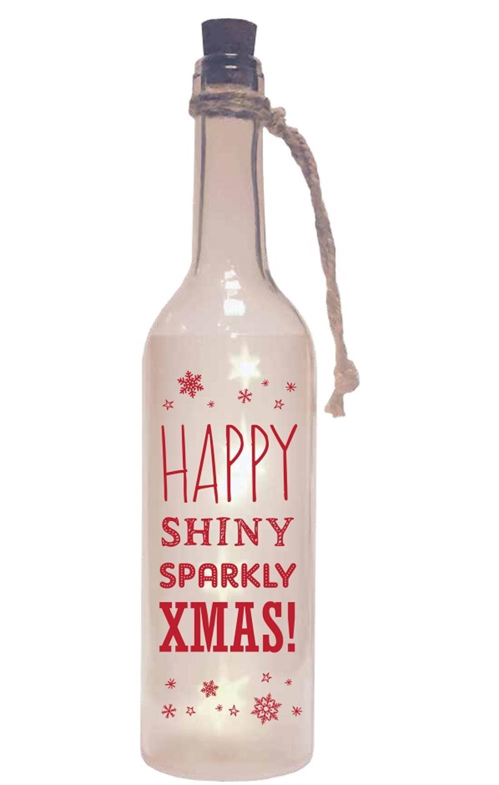 Sparkly Christmas Starlight Bottle Light Up Sentimental Message Bottles