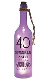 40th Birthday Starlight Bottle Light Up Sentimental Message Bottles