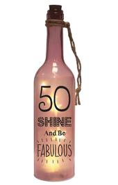 50th Birthday Starlight Bottle Light Up Sentimental Message Bottles