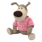 "Boofle Lovely Mum 10"" Sitting Plush Wearing A Knitted Jumper"