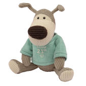 "Boofle Happy 21st Birthday 10"" Sitting Plush Wearing A Knitted Jumper"
