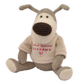 "Boofle Special Grandma 10"" Sitting Plush Wearing A Knitted Jumper"