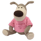 "Boofle Birthday Girl 10"" Sitting Plush Wearing A Knitted Jumper"