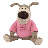 "Boofle Granddaughter 10"" Sitting Plush Wearing A Knitted Jumper"