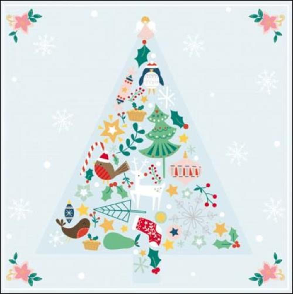 Pack of 5 Festive Tree Samaritans Charity Christmas Cards
