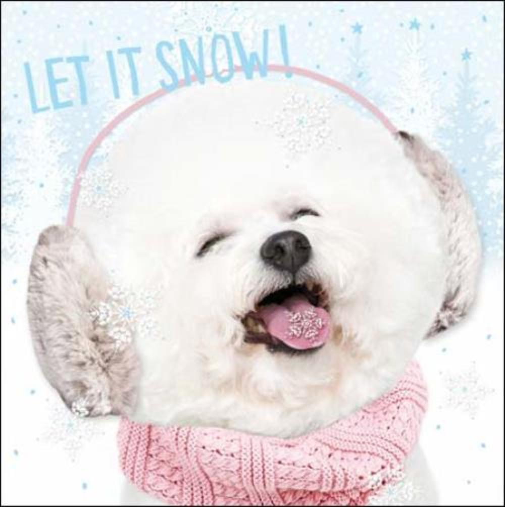 Pack of 5 Let It Snow Samaritans Charity Christmas Cards