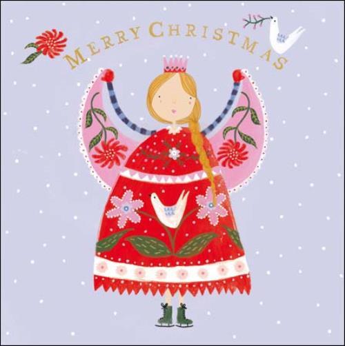 Pack Of 5 Xmas Angel Samaritans Charity Christmas Cards