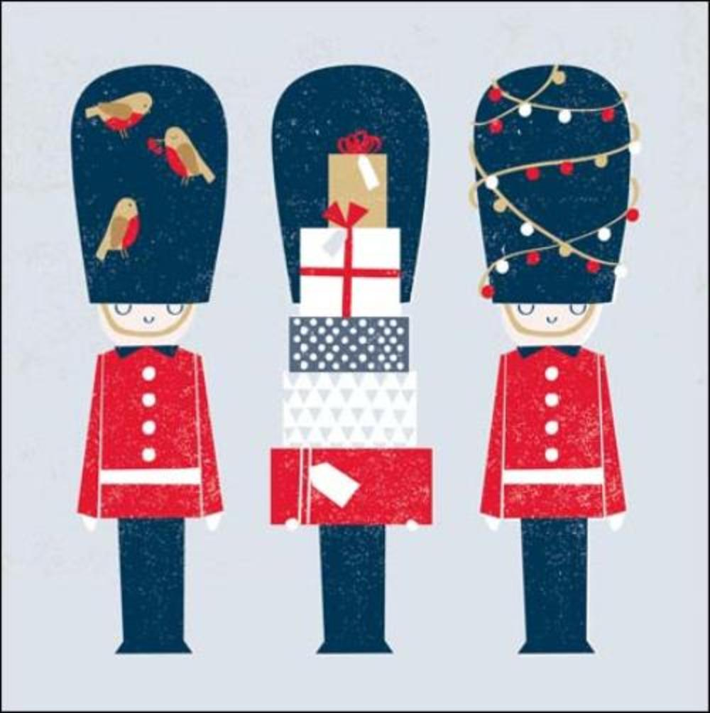 Pack of 5 Festive Royal Guards Samaritans Charity Christmas Cards