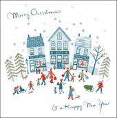 Pack of 5 Christmas Shopping Samaritans Charity Christmas Cards