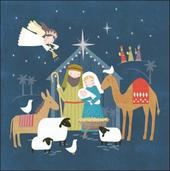 Pack of 5 Nativity Scene Samaritans Charity Christmas Cards