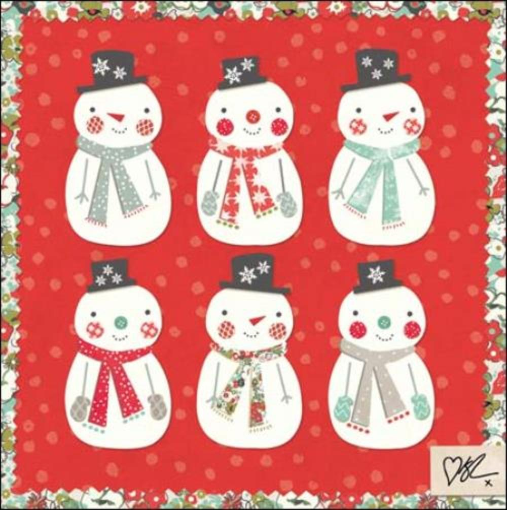 Pack of 5 Snowmen Children With Cancer Charity Christmas Cards