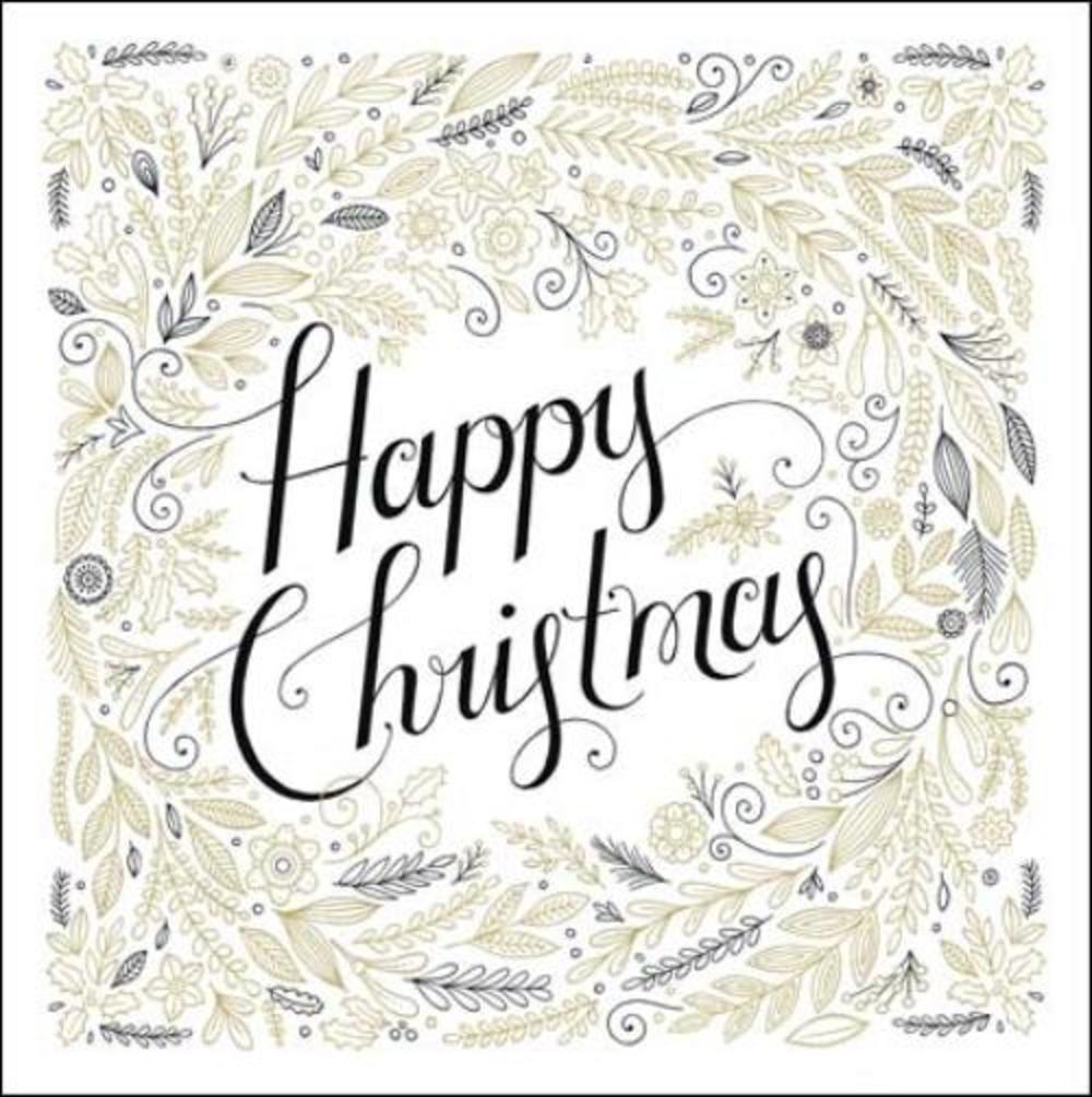 Pack of 5 Happy Christmas Prince's Trust Charity Christmas Cards