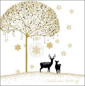 Pack of 5 Reindeers Alzheimer's Society Charity Christmas Cards