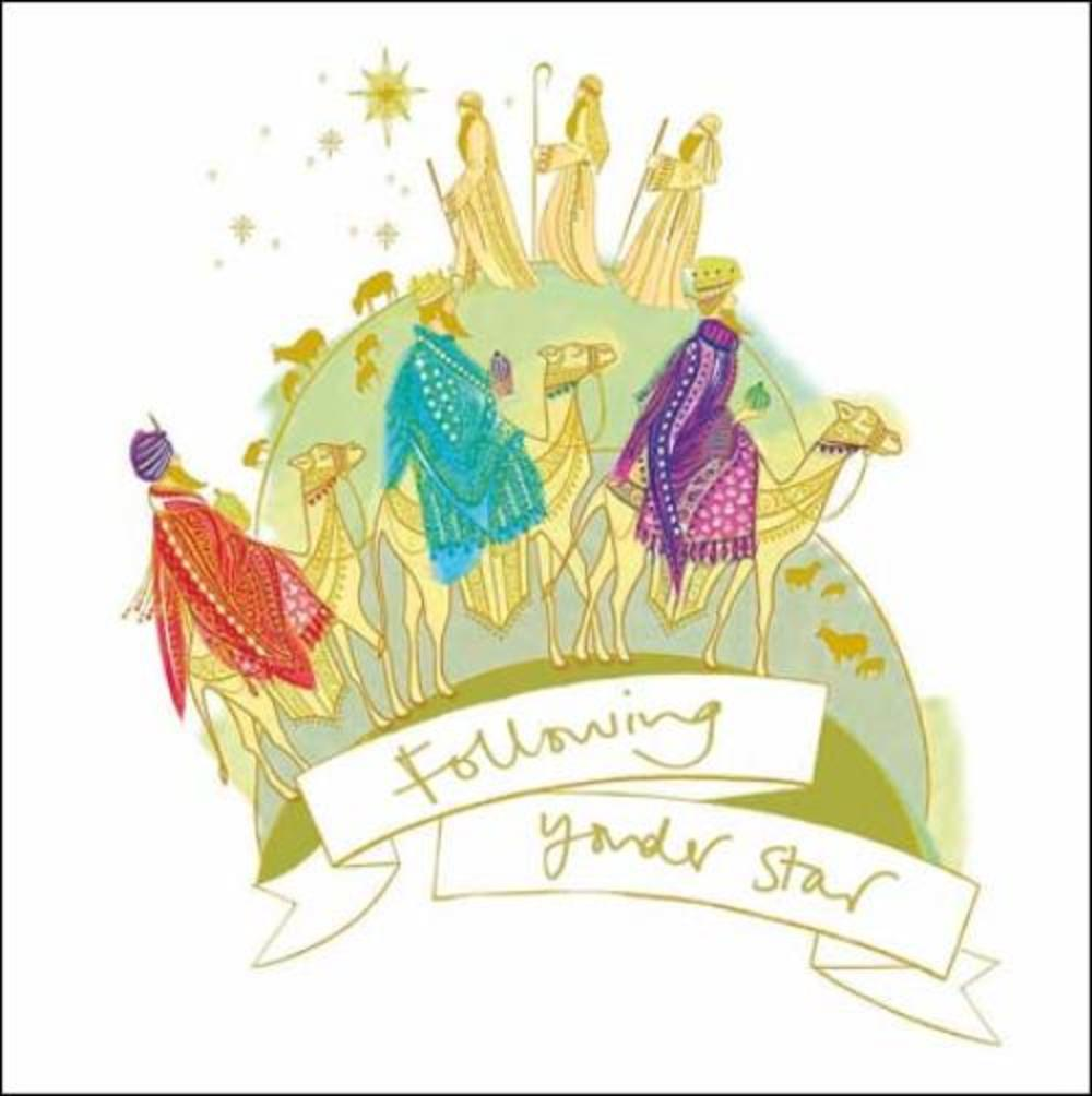 Pack of 5 Yonder Star Shelter & Crisis Charity Christmas Cards