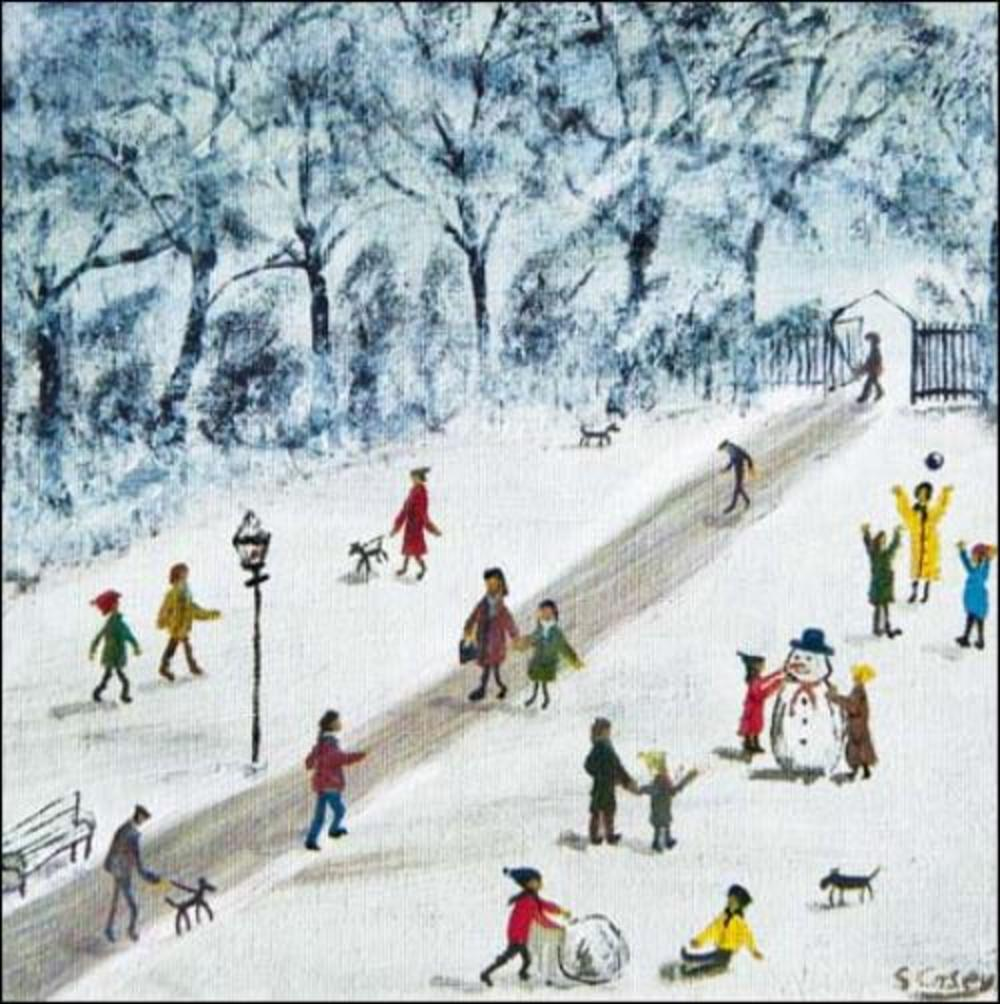 Pack of 5 Snow Scene Shelter & Crisis Charity Christmas Cards