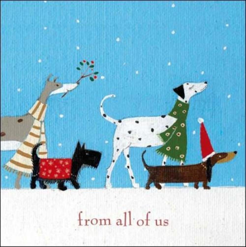 Pack of 5 Winter Walkies Marie Curie Charity Christmas Cards