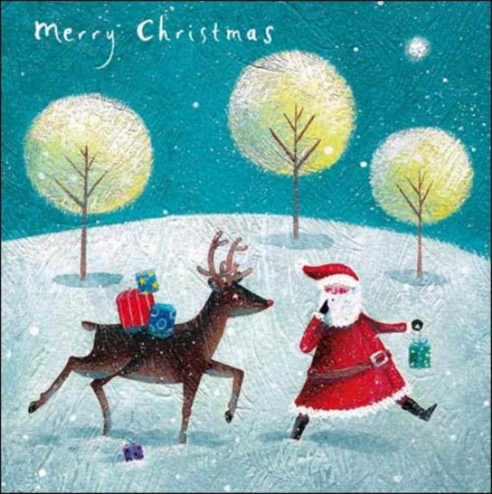 Pack of 5 Santa & Rudolph Marie Curie Charity Christmas Cards